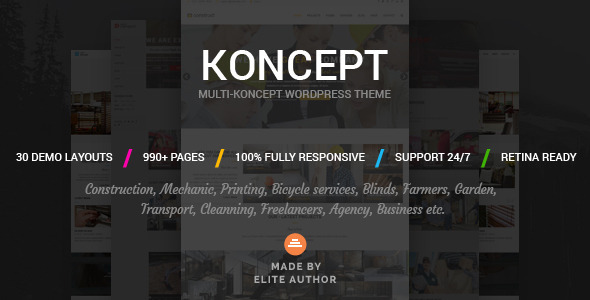 Koncept – Responsive Multi-Concept WordPress Theme (Business) Download
