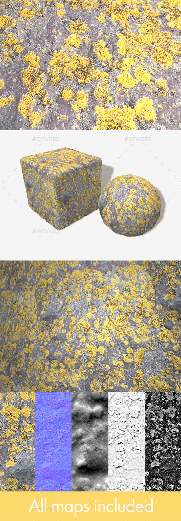 3DOcean Mossy Stone Seamless Texture 12123910