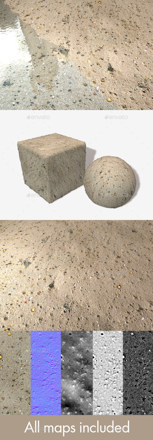 Sand and Small Stones Seamless Texture - 3DOcean Item for Sale