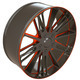 Vehicle disc or wheel isolated