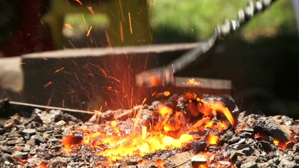 VideoHive Burning Coal In The Forge 12125532