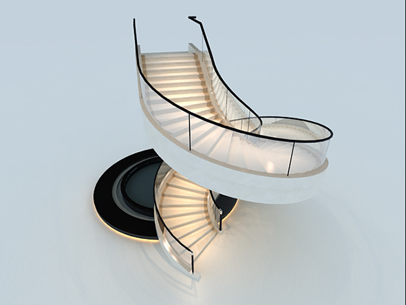 3DOcean Spiral stairs 12125932