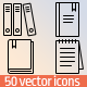 50 Books & Notepad icons