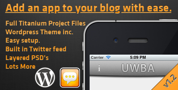 CodeCanyon Universal Wordpress Blog App 918040