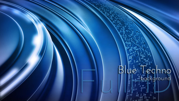Blue Techno 3D Background