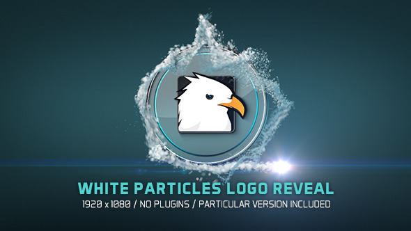 White Particles Logo Reveal