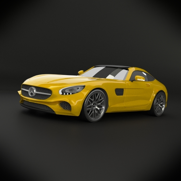Mercedes benz amg gt 2015 restyled - 3DOcean Item for Sale