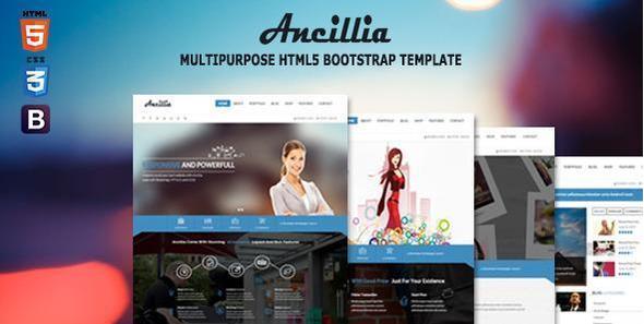 Ancillia Multipurpose HTML5 Bootstrap Template