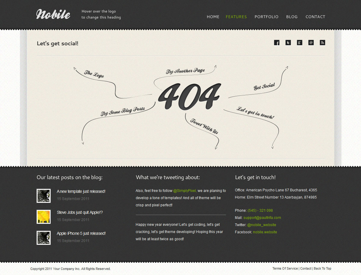 Nobile | HTML5 & CSS3 With iPhone WebApp