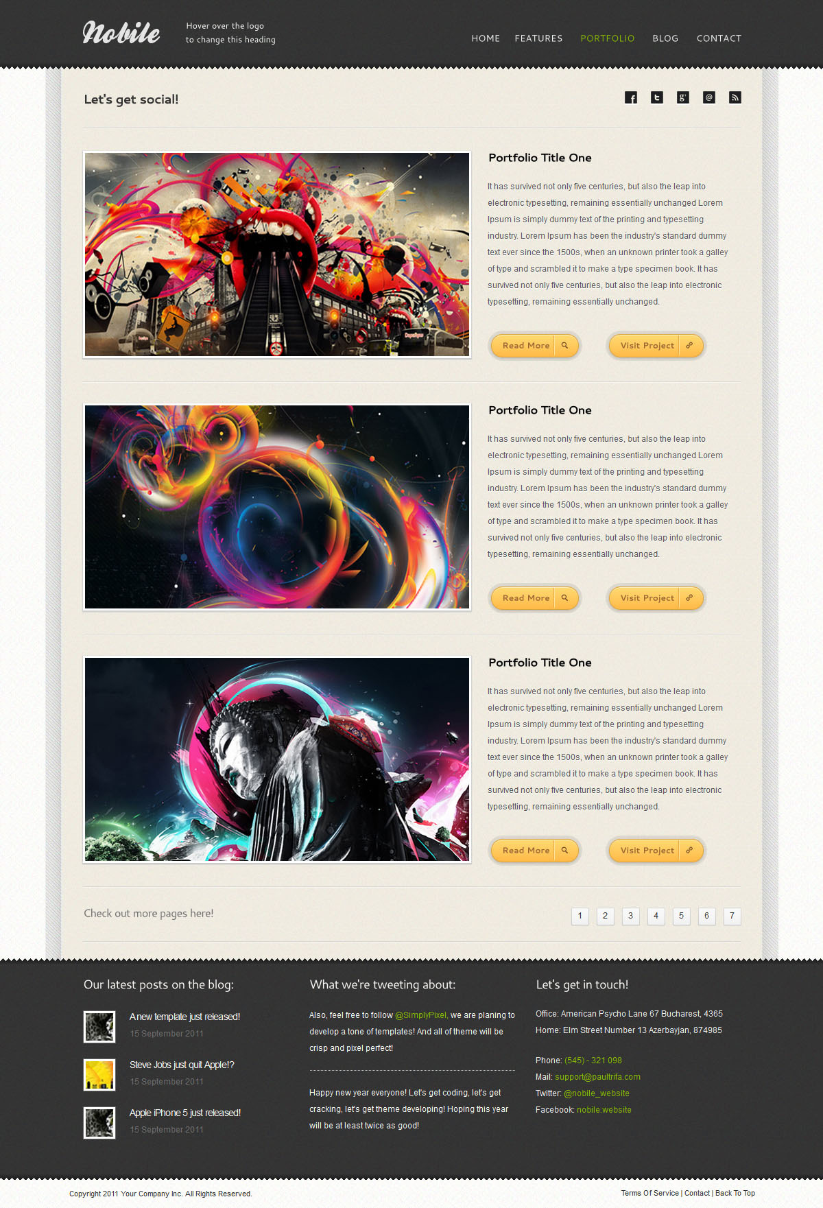 Nobile   HTML5 & CSS3 With iPhone WebApp
