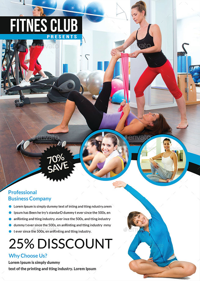 Fitness Flyer Templates by afjamaal – Fitness Flyer