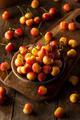 Healthy Organic Rainier Cherries