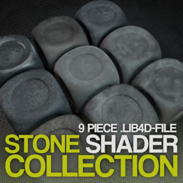 3DOcean Cinema 4D Stone Shader collection 12109578