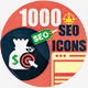 1000 SEO Icons-Mega Pack