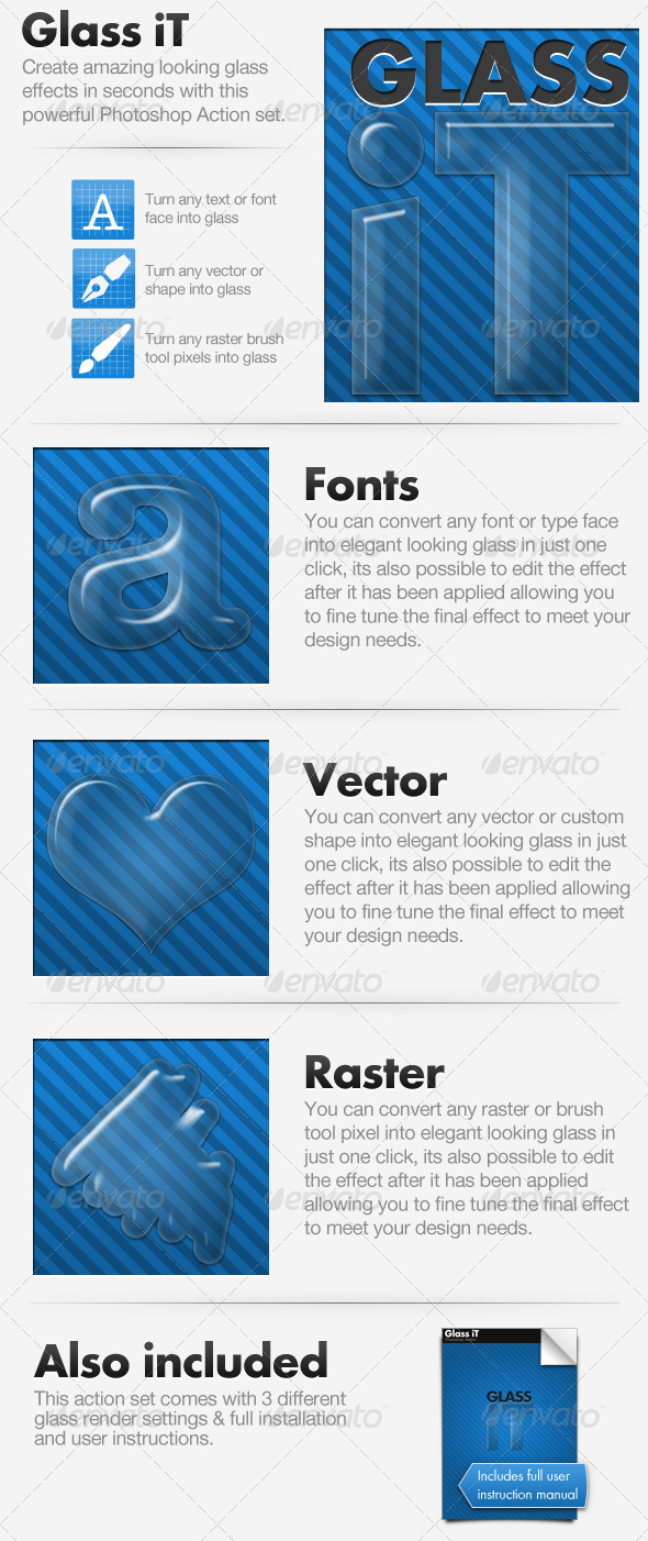 GraphicRiver Glass iT Glass Creating Action 147980