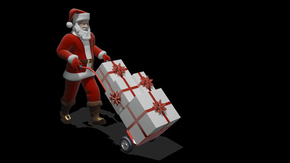 Santa Carries Gifts