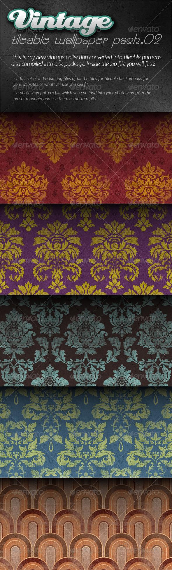Vintage Tileable Wallpaper Pack 02