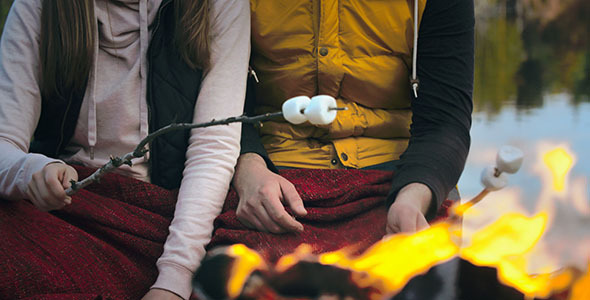 VideoHive Roasting Marshmallows 12138441