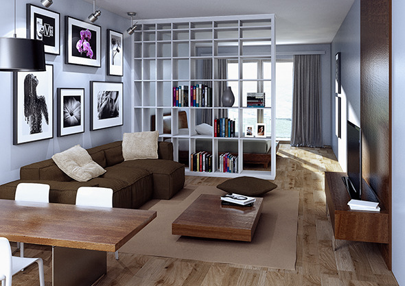 3DOcean Apartment interior for C4D & VRay 12138729
