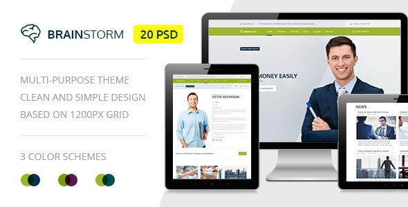 BrainStorm — Multi-purpose Training PSD Theme