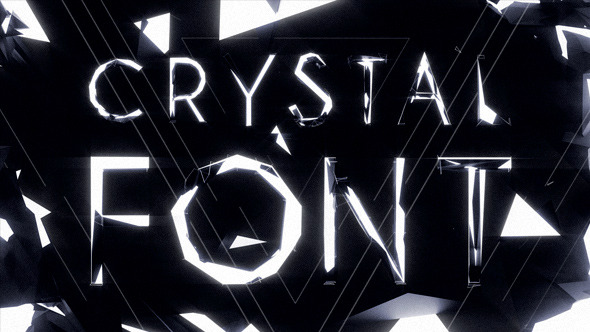 VideoHive Crystal Font Pack with Shapes and Titles 12141045