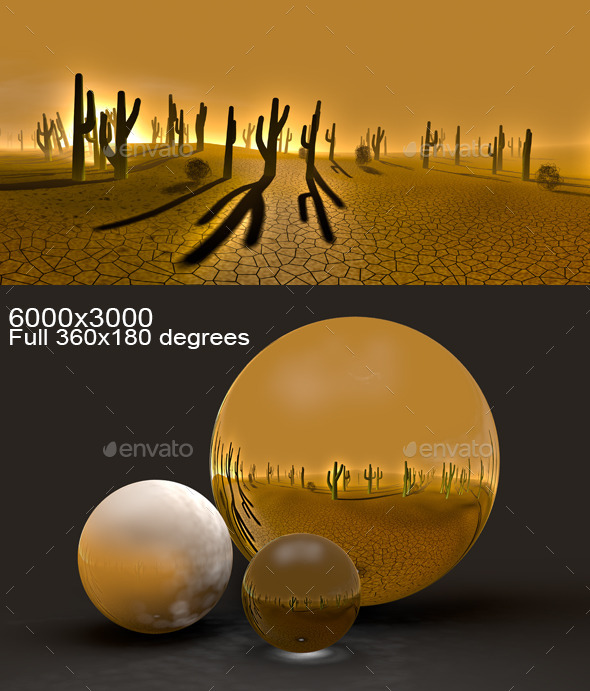 Cacti Desert HDRI - 3DOcean Item for Sale