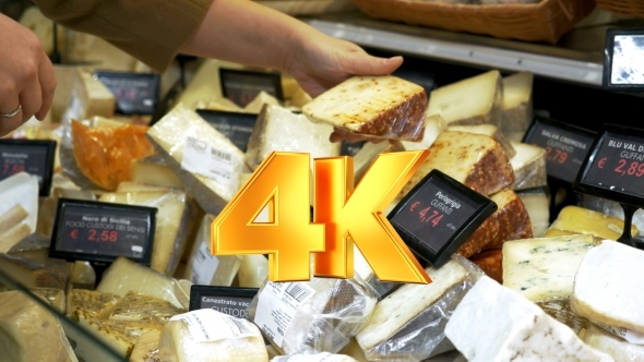 VideoHive Great Assortment Of Cheese In The Shop 12143592