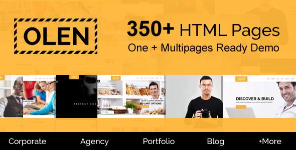 OLEN - Multipurpose Responsive Corporate HTML5 Template
