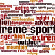 Extreme Sports Word Cloud Concept