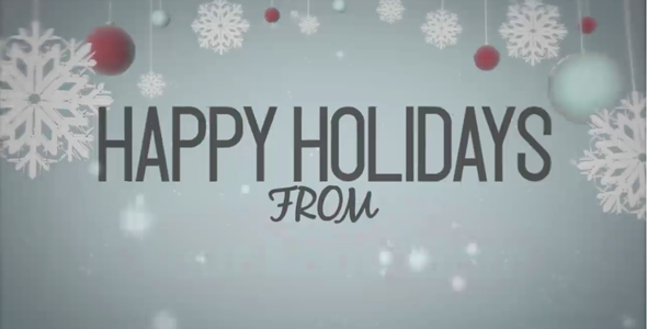 Happy Holidays - Snowy Animation
