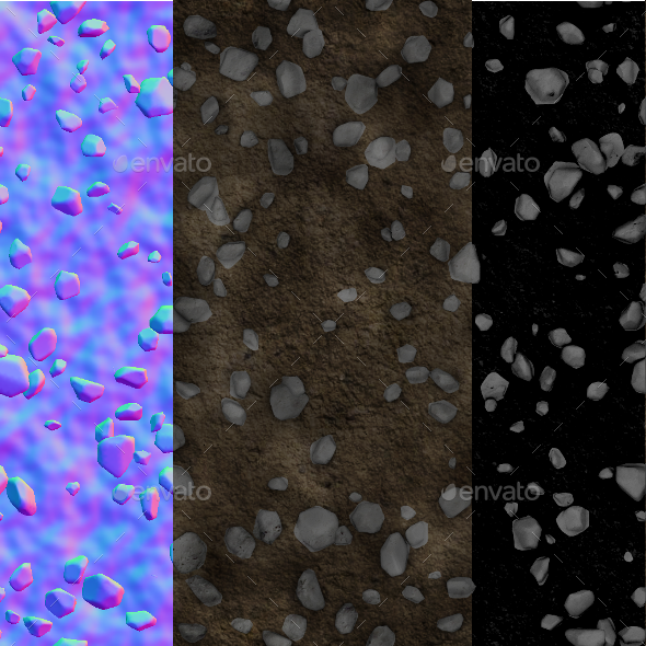 3DOcean Dirt & Rocks Tileable Game Texture 12147518