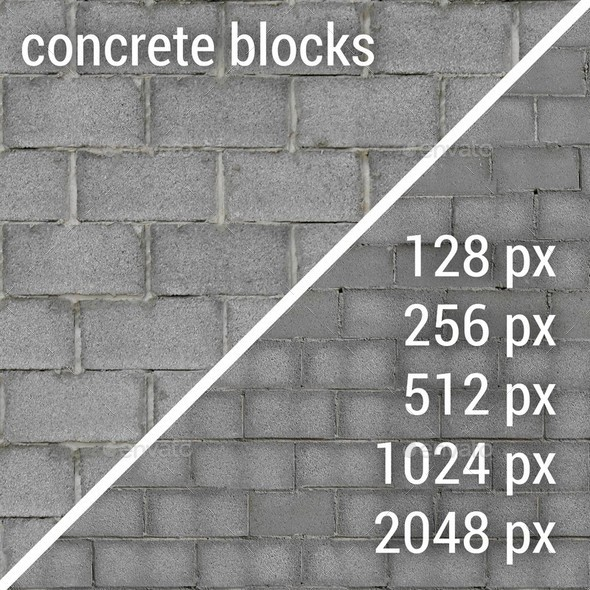 3DOcean Concrete Blocks Textures 12147632