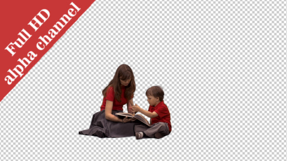 VideoHive Little Boy Listening to His Mom Reading a Book 1 12148199
