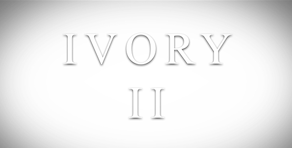 After Effects Project - VideoHive Ivory 2 147337