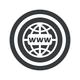 Round black global network sign