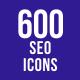 600 SEO Icons