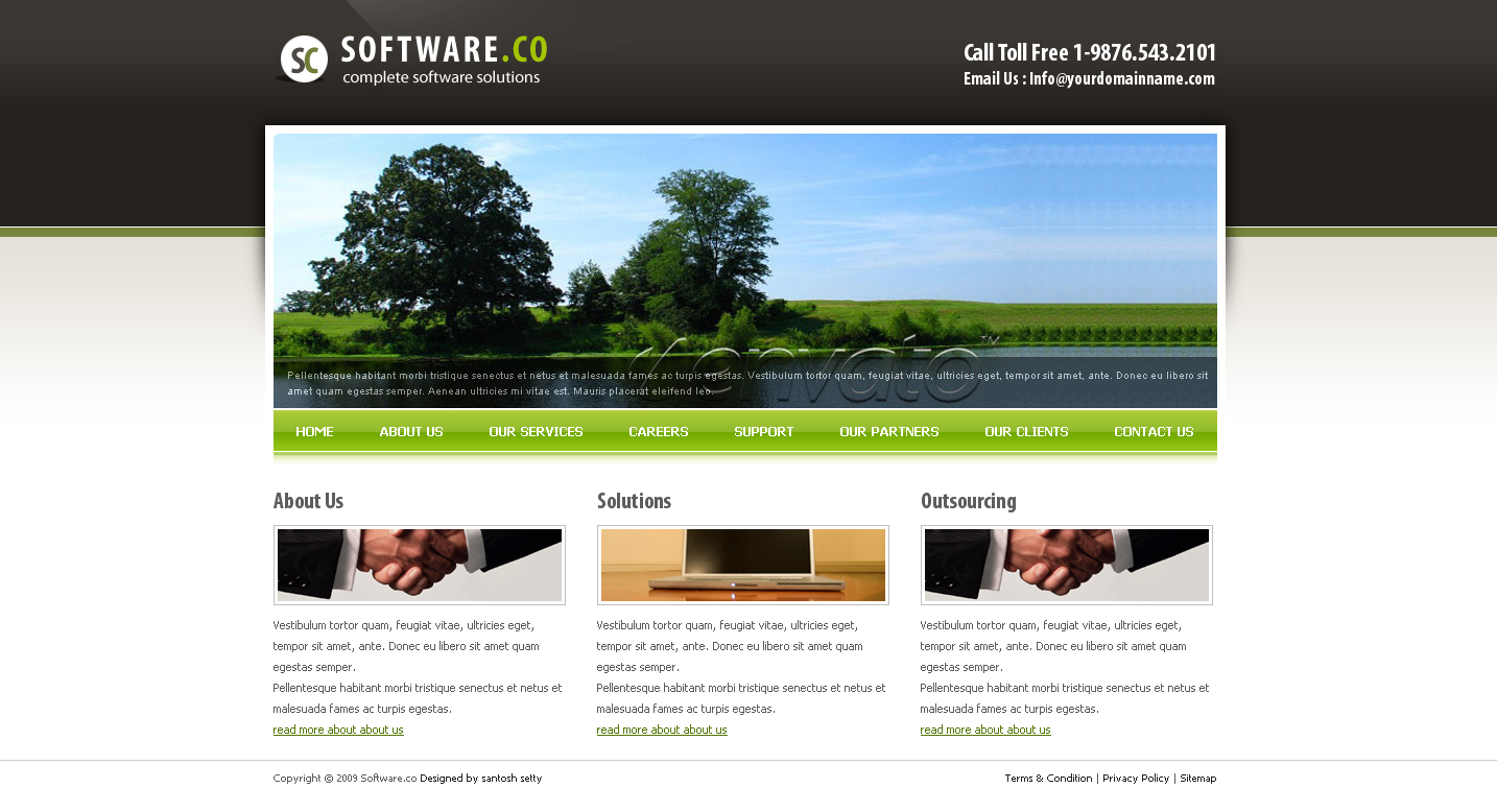 Software Co Html Template
