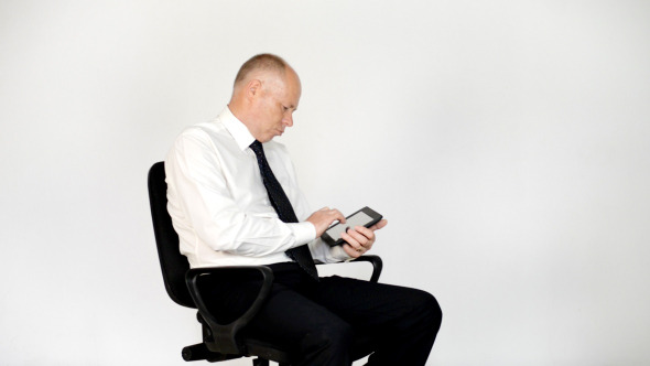 VideoHive Relax Businessman Using Tablet 12152240
