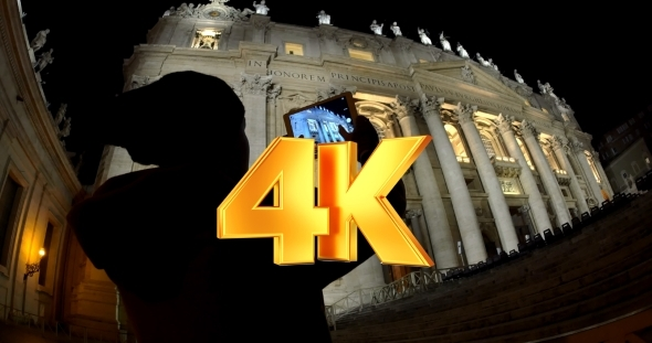 VideoHive Using Pad To Shoot Photos Of Night St Peters 12152746