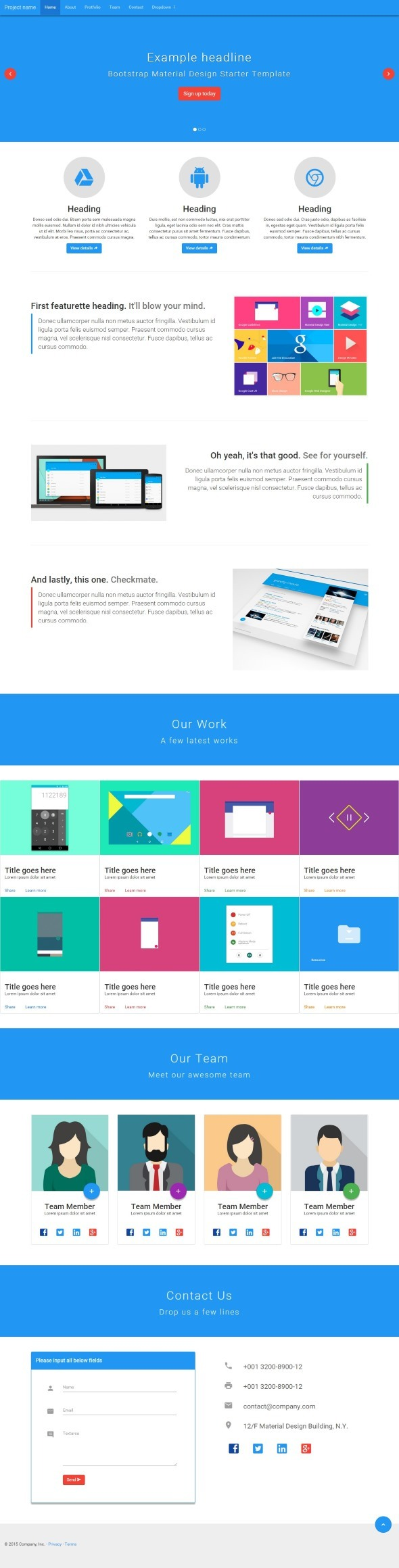 BMD - Bootstrap + Material Design - 9