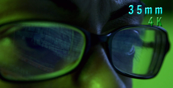VideoHive Computer Code On Eyeglasses 12152882