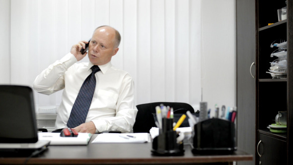 VideoHive Businessman on Phone 12153085