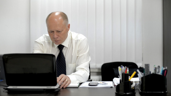 VideoHive Businessman Working on Laptop 12153760