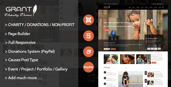 01 banner. large preview - Grant - Charity / Nonprofit / NGO Joomla Template