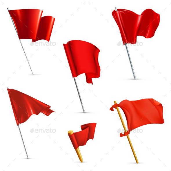 Red Flags Icons