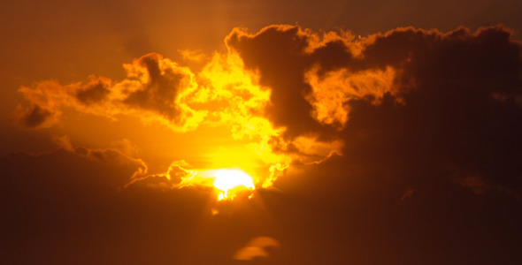 VideoHive Orange Sunrise Through Clouds 12154157