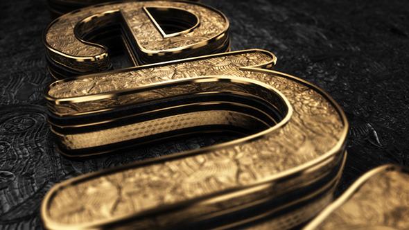 AE模板:三维中世纪史诗电影标志logo 黑色黄金质感 粒子介绍 E3D V2模板Black Gold Logo V3 免费下载