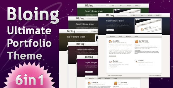 Bloing - Portfolio CMS and Blog Wordpress Theme - Main screenshot