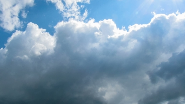 VideoHive Clouds Moving In The Blue Sky 12156953