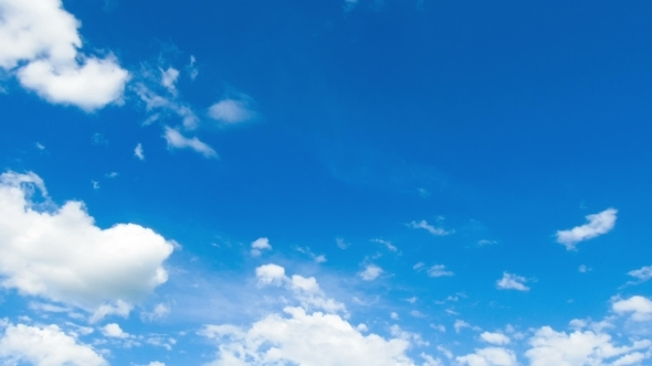 VideoHive Clouds Moving In The Blue Sky 12156992
